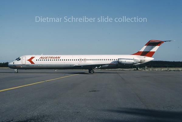 1983-08 OE-LDK Douglas DC9-50 Austrian Airlines