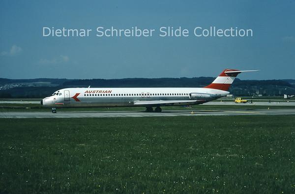 1980-07 OE-LDO Douglas DC9-51 (c/n 47756) Austrian Airlines