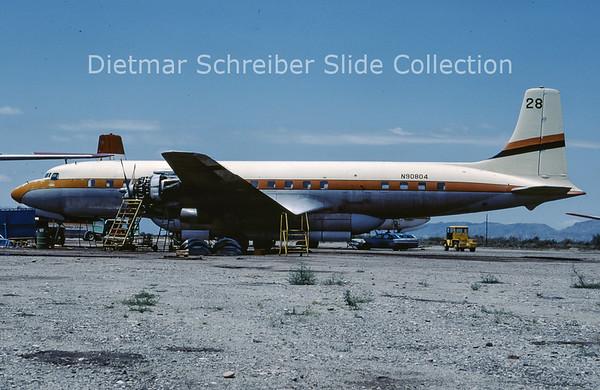 1982-05 N90804 Douglas DC-7C (c/n 45116) T and G Aviation