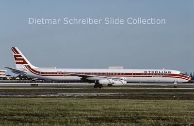 1984-06 OY-SBL Douglas DC8-63 (c/n 46054) Sterling Airways
