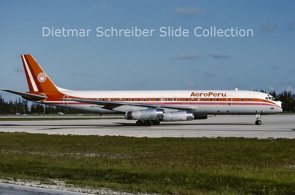 1987-06 OB-R-1249 Douglas DC8-62H (c/n 46132) Aeroperu