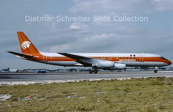 1988-03 XA-AMT Douglas DC8-62H (c/n 45909) Aeromexico
