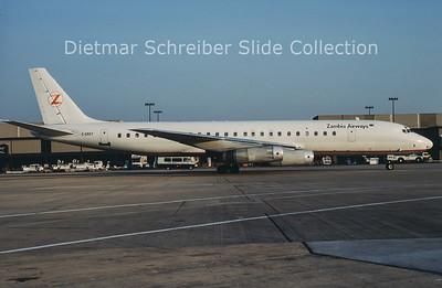 1989-06 C-GMXY Douglas DC8-62 (c/n 45920) Zambia Airways