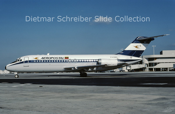 1986-01 YV-03C Douglas DC9-15 (c/n 47000) Aeropostal