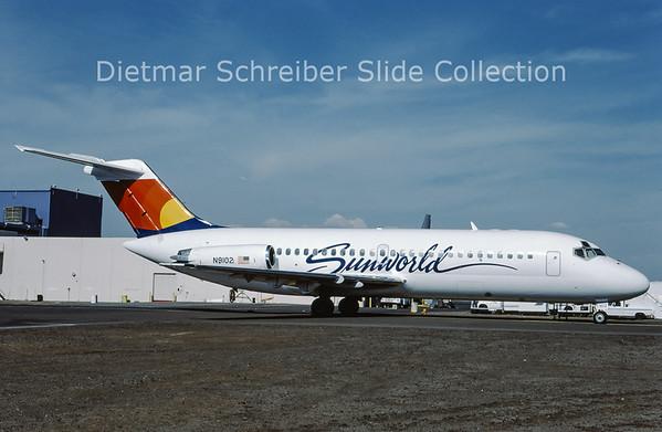 1987-05 N9102 Douglas DC9-14 (c/n 45795) Sunworld