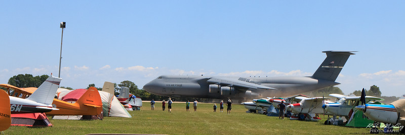 Lockheed C-5M touches down