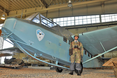 "Luftwaffe Museum at Berlin Gatow on September 15, 2012. Luftwaffe DFS 230A-2 ""KA+1-52"". Assault glider operated by Schleppgruppe 2."