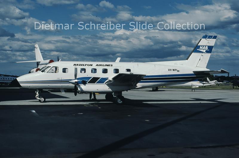 1988-08 VH-WPI Embraer Emb110P1 (c/n 110281) Hazelton Airlines