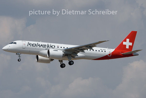 2020-08-09 HB-AZD Embraer 190E2 Helvetic