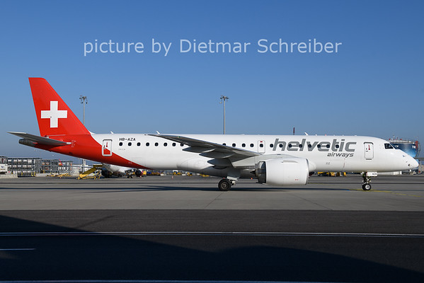 2021-01-11 HB-AZA Embraer 195 E2 Helvetic