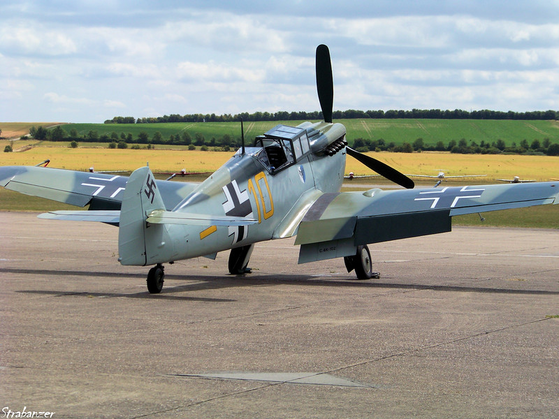 Hispano HA-112 MIL Buchon (G-AWHK)<br /> Imperial War Museum<br /> Duxford, UK, 07/11/2015<br /> This work is licensed under a Creative Commons Attribution-<br /> NonCommercial 4.0 International License