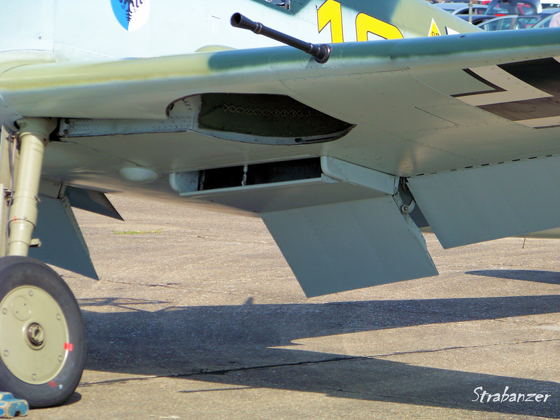 Hispano HA-1112-M1L Buchon, C/N: 172  G-AWHK<br /> Underwing detail<br /> <br /> Duxford, UK, 07/11/2015<br /> This work is licensed under a Creative Commons Attribution-<br /> NonCommercial 4.0 International License