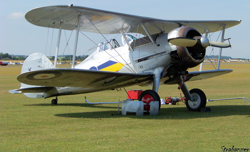 Gloster Gladiator Mk I K7985  G-AMRK<br /> Duxford, UK, 07/11/2015<br /> This work is licensed under a Creative Commons Attribution-<br /> NonCommercial 4.0 International License