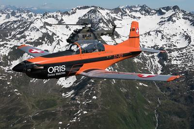 2015-06-26 T7-PCS Pilatus PC7 / T-336 Super Puma Swiss Air Force