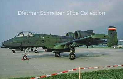 1988-10 81-0960 Fairchild A10 Thunderbolt (c/n A10-0655) United States Air Force