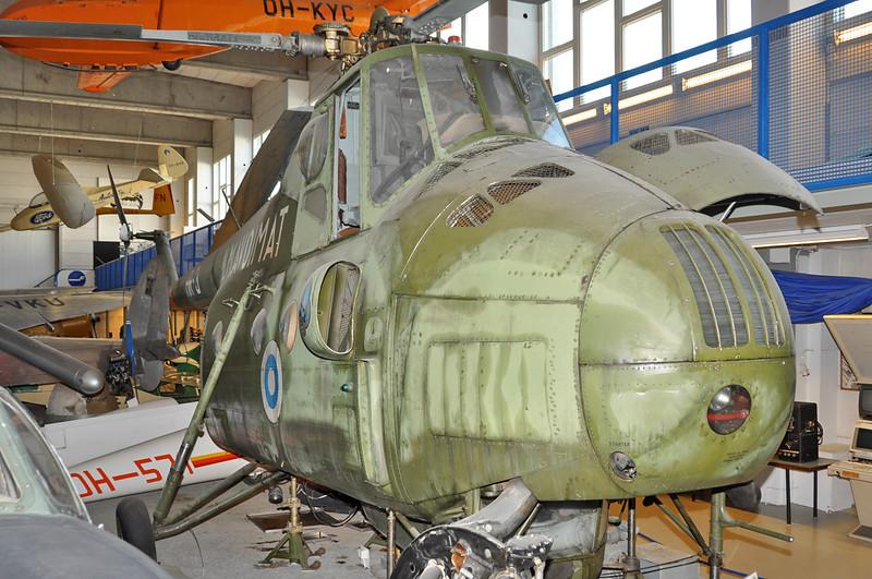 "Finnish Aviation Museum at Helsinki-Vantaa on August 15, 2012. Finnish Air Force Mil Mi-4 Hound ""HR-3"" (cn 09114)."
