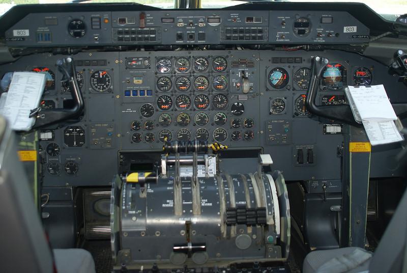 Flightdeck of C-GFFL, a Dehavilland DHC-7-102, owned by Air Tindi Ltd.