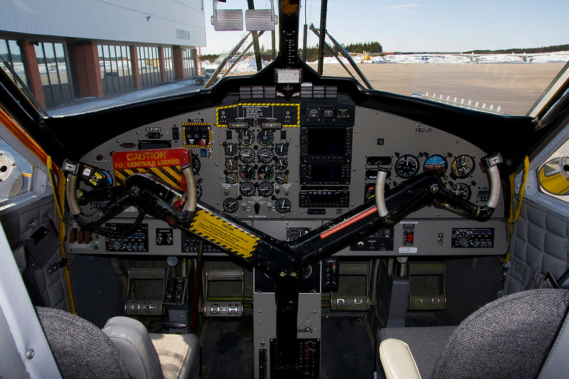 Instrument panel from C-FOPJ - a Dehavilland DHC-6 SERIES 300 Twin Otter as she sat on the ramp at the Dryden airport.