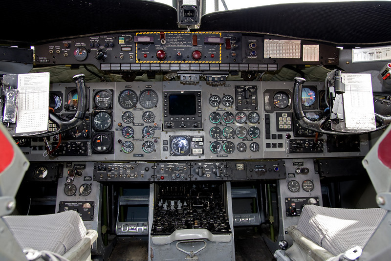 Panel from a De Havilland Canada CC-115 Buffalo (DHC-5D) (SN 10). This aircraft is to be retro fitted with a glass cockpit soon.