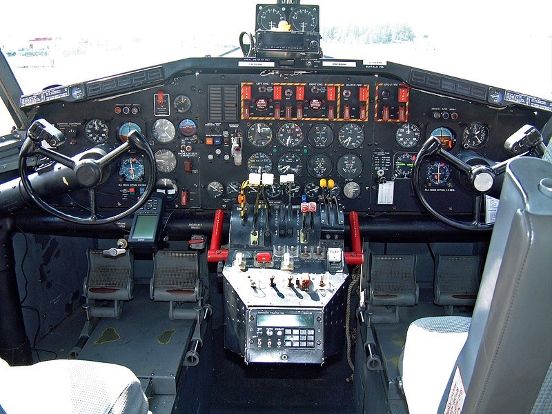 Cockpit of a Canadair CL215 1A10 (Buffalo Tanker 296)