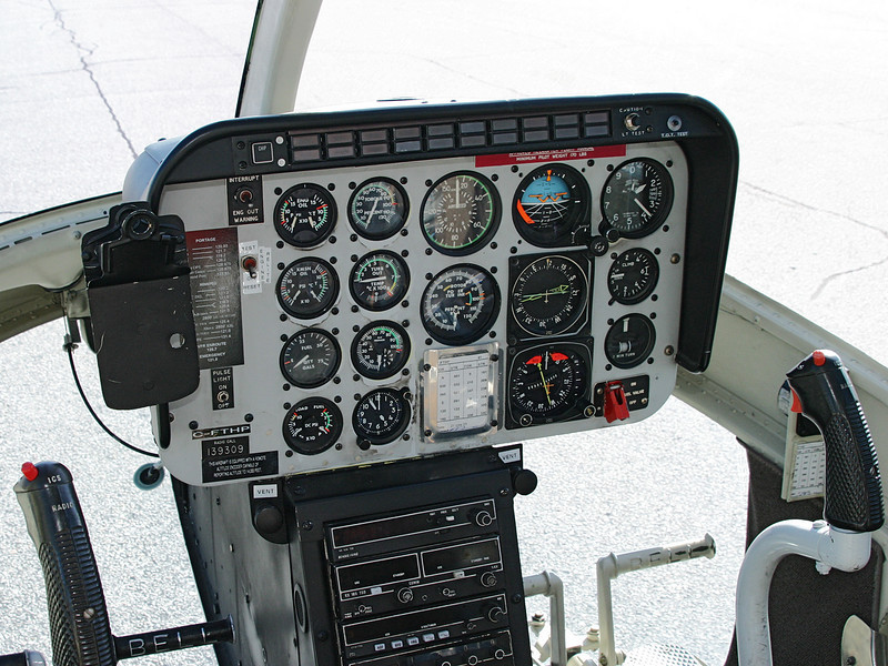 Instrument panel of a CAF Bell CH-139 JetRanger.