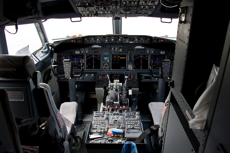 The crew of this West Jet Boeing 737-8CT (Serial No: 35080 - manufactured in 2008) gave me the opportunity to get a photo of the flight deck.