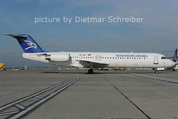 2012-10-04 4O-AOT Fokker 100 Montenegro AIrlines