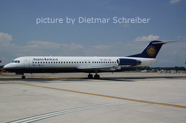2006-07-29 9A-BTE Fokker 100 Sun Adria