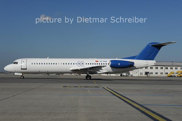 2012-10-11 4O-AOM Fokker 100 Montenegro AIrlines