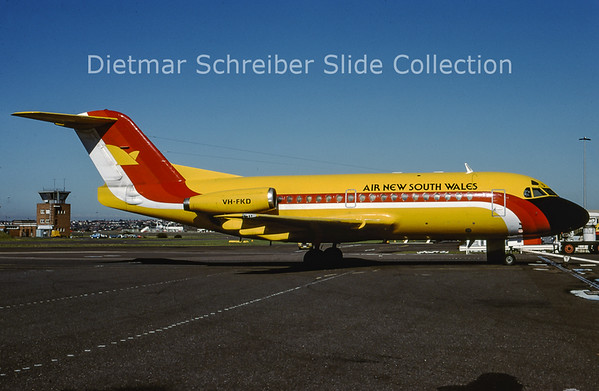 VH-FKD Fokker F28-1000 (c/n 11026) Air New South Wales
