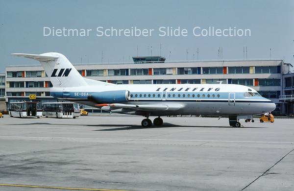 1975-06 SE-DGA Fokker F28-1000 (c/n 11067) Linjeflyg