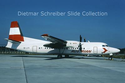 OE-LFX Fokker F50 (c/n 20112) Austrian Air Service; Austrian Airlines