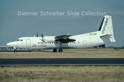 1998-09 PH-KXM Fokker F50 (c/n 20252) KLM Cityhopper