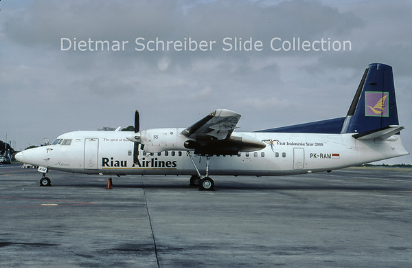2009-08 PK-RAM Fokker F50 (c/n 20272) Riau Airlines
