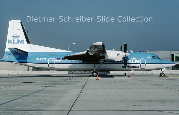 2009-10 PH-KVG Fokker F50 (c/n 20211) KLM Cityhopper