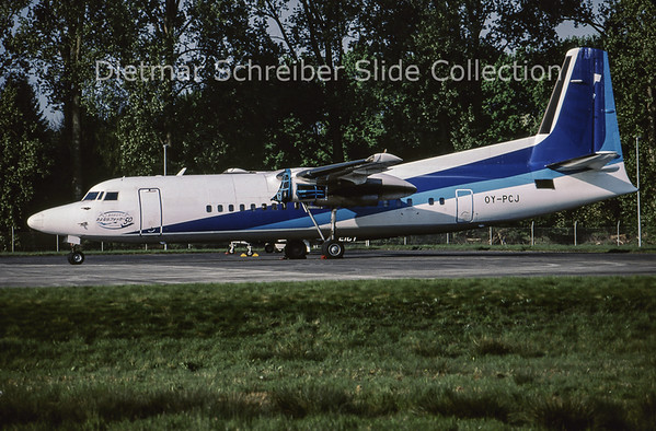 2009-06 OY-PCJ Fokker F50 (c/n 20307)