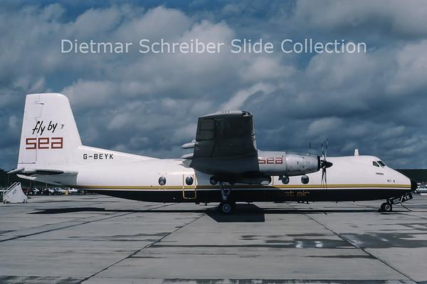 1987-08 G-BEYK Handley Page HPR.7 Herald 401 (c/n 187) South East Air