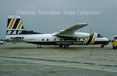 1977-04 G-BAVX Handley Page HPR.7 Herald 214 (c/n 194) British Air Ferries