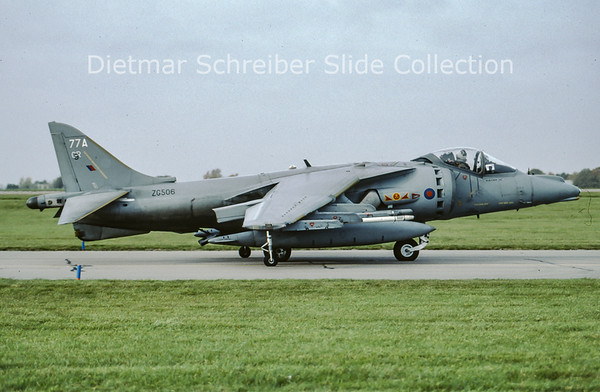 2010-10-27 ZG506 Hawker Siddeley Harrier GR9A (c/n P77) Royal Air Force