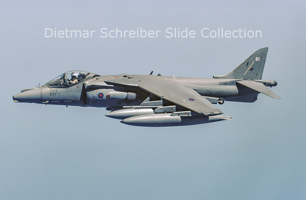 2003-05 ZG510 Hawker Siddeley Harrier GR9A (c/n P81) Royal Air Force