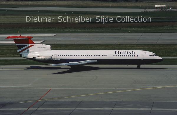 1980-07 G-AWZB Hawker Siddely Trident 3B (c/n 2303) British Airways