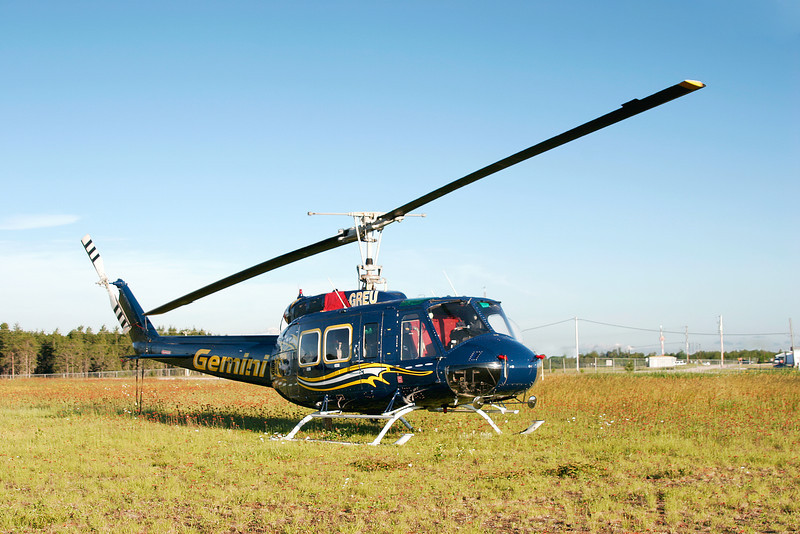 Gemini Helicopters waiting for a call from the MNR at the Dryden Airport in 2005 with a Bell 205A-1.