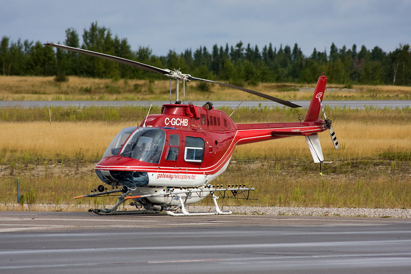 Gateway Helicopters also came to Dryden this same day in this Bell 206B.