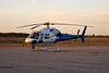 A Aerospatiale AS 355 F2 operated by the OPP sitting on the ramp at the Dryden Airport November 13th, of 2007.