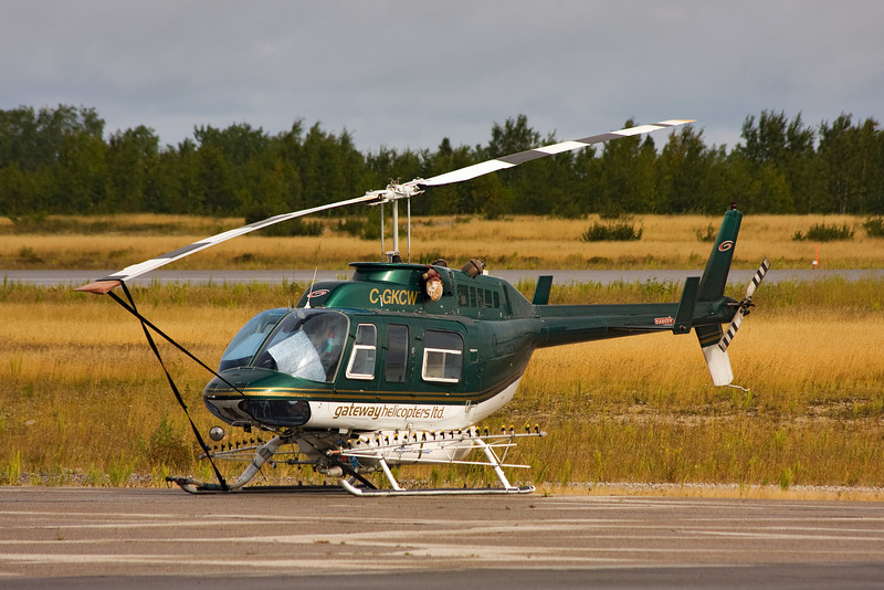 Gateway Helicopters came to Dryden in this Bell 206L.