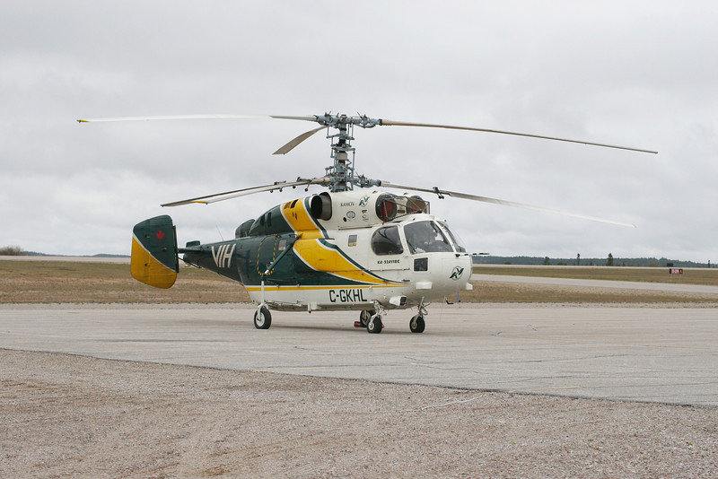 Vancouver Island Helicopters came to Dryden for fuel with this Kamov KA-32A11BC