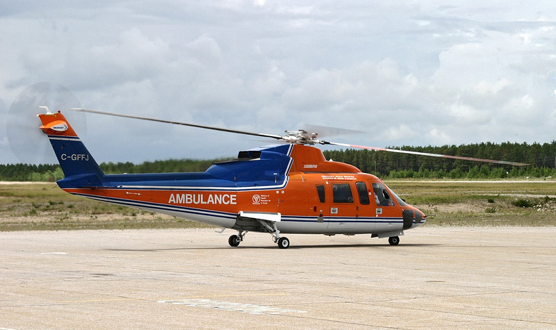 Sikorsky S-76A owned by Canadian Helicopters for medivac flights.
