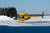 Custom Helicopters Ltd. stopped for fuel in Dryden in this Bell 206B.