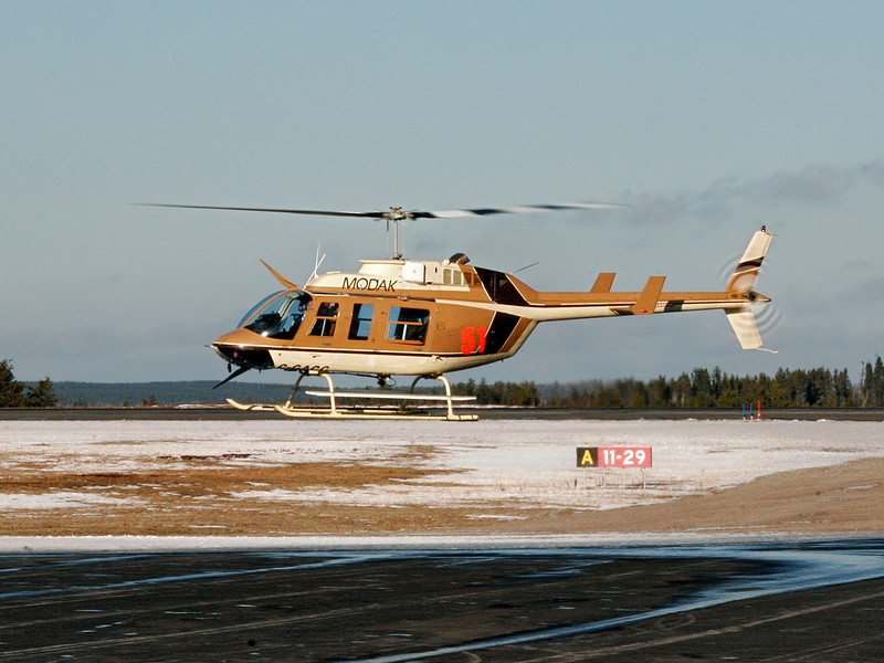 A Bell  206L-3 from Modak Aviation. As far as I know, Modak is no longer in business.