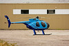 A Hughes 500 Model 369D owned by Great Slave Helicopters landed at the Superior Helicopters pad in Dryden, ON.